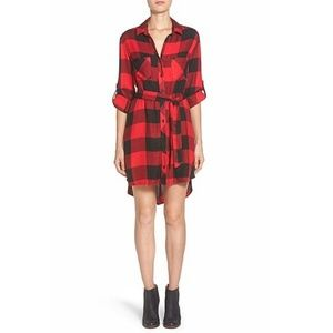 beach lunch lounge • Simone Belted Plaid Dress